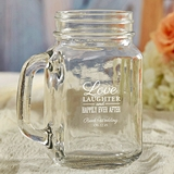 Kate Aspen Personalized 16 oz. Mason Jars (Wedding Words Designs)
