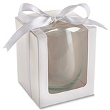 Kate Aspen White 15 oz. Stemless Wine Glass Gift Boxes (Set of 12)
