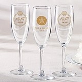 Kate Aspen Beach Tides Designs Personalized Champagne Flutes