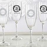 Kate Aspen Romantic Garden Designs Personalized Champagne Flutes