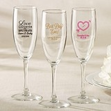 Kate Aspen Personalized Champagne Flutes (Wedding & Seasonal Designs)