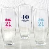 Personalized Milestone Birthday 9 oz. Stemless Champagne Glass