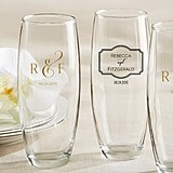 Classic Collection Personalized 9 oz. Stemless Champagne Glasses