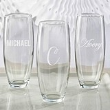 Kate Aspen Personalized Engraved 9 oz. Stemless Champagne Glass