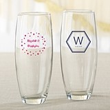 Personalized 9 oz. Stemless Champagne Glasses (Modern Classic Designs)