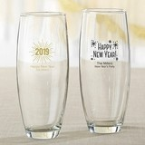Personalized 9 oz. Stemless Champagne Glasses (New Year's Designs)