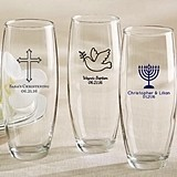 Personalized 9 oz. Stemless Champagne Glasses (Religious Designs)