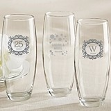 Milestone Silver Collection Personalized Stemless Champagne Glasses