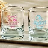 Kate Aspen Personalized 9 oz. Rocks Glasses (Baby Shower Designs)
