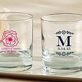Kate Aspen Personalized 9 oz. Rocks Glasses (Botanical Designs)