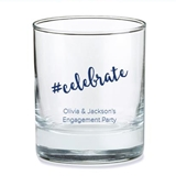 Kate Aspen Personalized Hashtag #celebrate Design 9oz Rocks Glasses