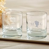 Kate Aspen Personalized English Garden Designs 9 oz. Rocks Glasses