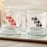 "Personalized ""Ho Ho Ho"" Design 9 oz. Rocks Glasses"