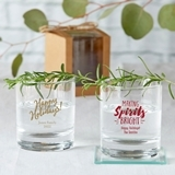 Kate Aspen Personalized 9 oz. Rocks Glasses (Holiday Designs)