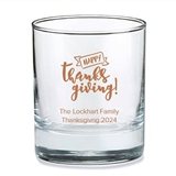 Kate Aspen Personalized 'Happy Thanksgiving' Design 9oz Rocks Glasses