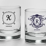 Kate Aspen Personalized 9 oz. Rocks Glasses (Monogram Designs)