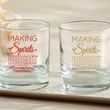 Kate Aspen Personalized 'Making Spirits Bright' 9 oz. Rocks Glasses