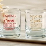 Kate Aspen Personalized 'Making Spirits Bright' 9 oz. Rocks Glasses