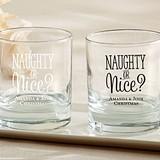 Kate Aspen Personalized 'Naughty or Nice?' 9 oz. Rocks Glasses