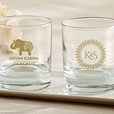 Kate Aspen Personalized 9 oz. Rocks Glasses (Indian Jewel Designs)