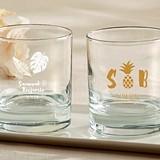 Kate Aspen Personalized Pineapples & Palms Designs 9 oz. Rocks Glasses