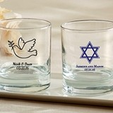 Kate Aspen Personalized 9 oz. Rocks Glasses (Religious Designs)