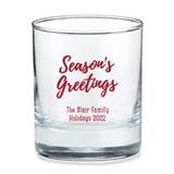 Kate Aspen Personalized Season's Greetings Design 9 oz. Rocks Glasses