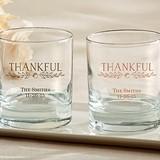 "Kate Aspen Personalized ""Thankful"" 9 oz. Rocks Glasses"
