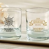 Personalized 9 oz. Rocks Glasses (Travel & Adventure Designs)