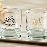 Personalized 9 oz. Rocks Glasses (Wedding & Seasonal Designs)