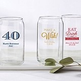 Personalized 16 oz. Can-Shaped Glasses (Birthday Designs)