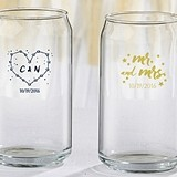 "Personalized 16 oz. Can-Shaped ""Under the Stars"" Glass"