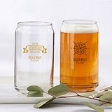 Personalized 16 oz. Can-Shaped Glasses (Travel & Adventure Designs)
