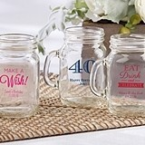 Personalized 4.5 oz. Miniature Mason Jar Glasses (Birthday Designs)