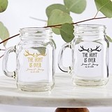 Personalized 4.5 oz. 'The Hunt is Over' Miniature Mason Jar Glasses