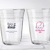 "Personalized 16 oz. Glass Party ""Cups"" (Baby Shower Designs)"