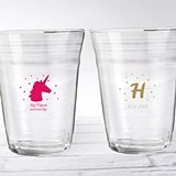 """Personalized 16 oz. 'Enchanted Party' Glass Party """"Cups"""""""