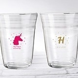 "Personalized 16 oz. 'Enchanted Party' Glass Party ""Cups"""