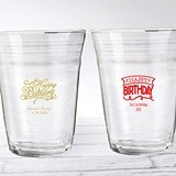 "Personalized 16 oz. Happy Birthday Glass Party ""Cups"""