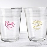 "Personalized 16 oz ""Party Time"" Glass Party ""Cups"""
