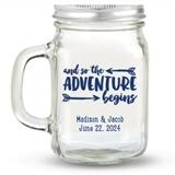 Kate Aspen 'The Adventure Begins' Design Personalized 12oz Mason Jar