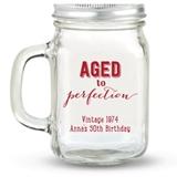 Kate Aspen Aged to Perfection Design Personalized 12oz Mason Jars