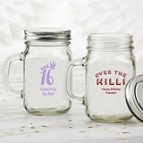 Kate Aspen Personalized 12 oz. Mason Jar Mug (Birthday Designs)