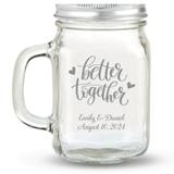 Kate Aspen 'Better Together' Hearts Design Personalized 12oz Mason Jar