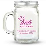 Kate Aspen Little Princess Crown Design Personalized 12oz Mason Jars