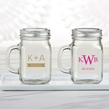 Kate Aspen Personalized 12 oz. Mason Jar Mug (Monogram Designs)