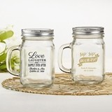 Kate Aspen Personalized 12 oz. Mason Jar Mug (Wedding Designs)
