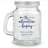 Kate Aspen Adventure Begins Arrow Design Personalized Mini Mason Jar