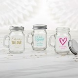 Kate Aspen Personalized Mini Mason Jar with Handle (Wedding Designs)