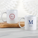Kate Aspen Personalized White Ceramic Coffee Mug (Monogram Designs)
